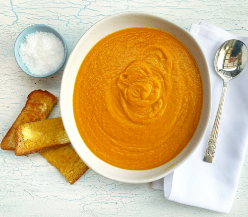 Thai Pumpkin and Kumara Soup
