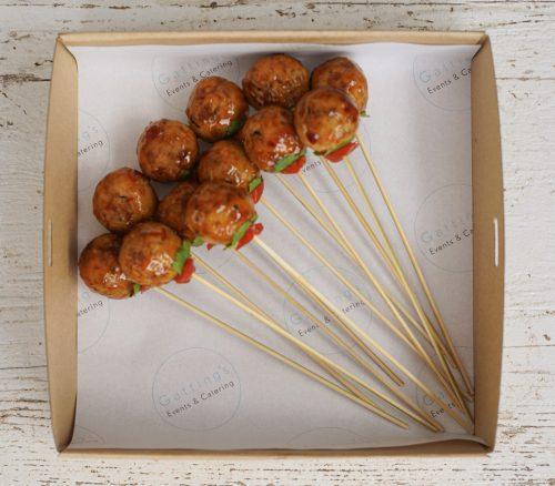 Thai Chicken balls with Sweet Chilli and Peanut (GF)